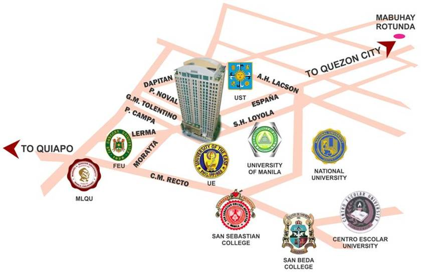 Crown Towers Map